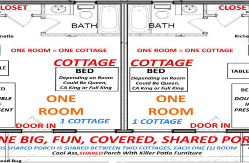 Room maps of cottages